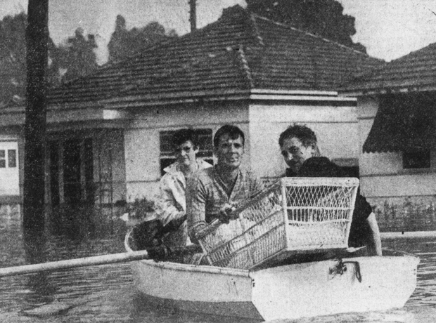 Panania residents rescued during 1956 flood