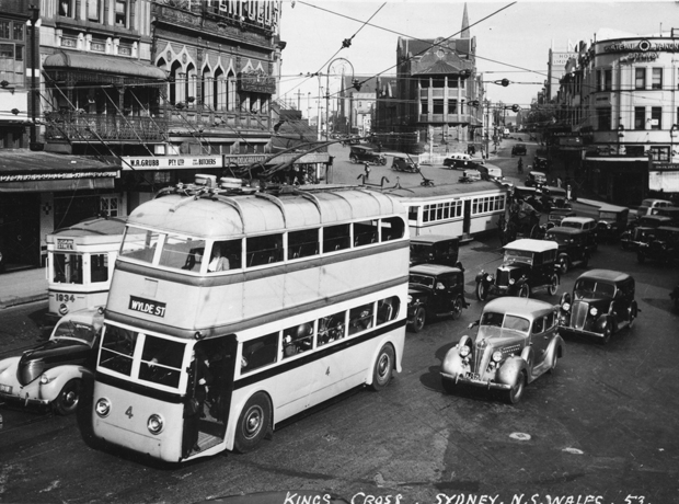Electrically-powered trolly bus service