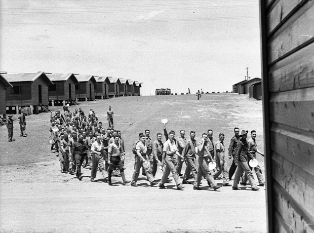 Ingleburn military camp with soliers