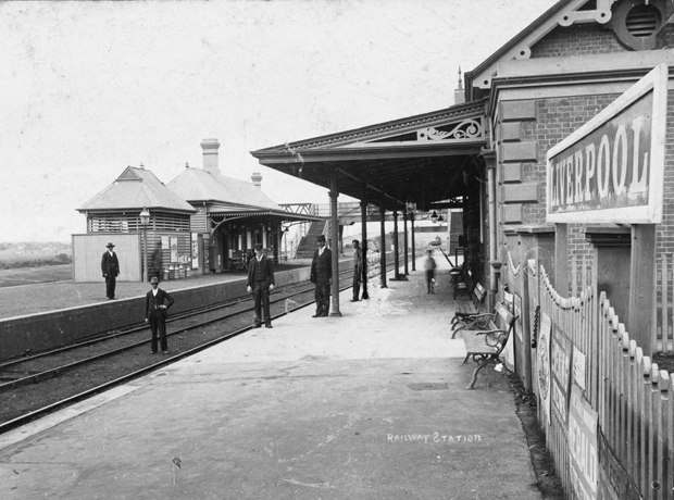 Liverpool railway station after opening