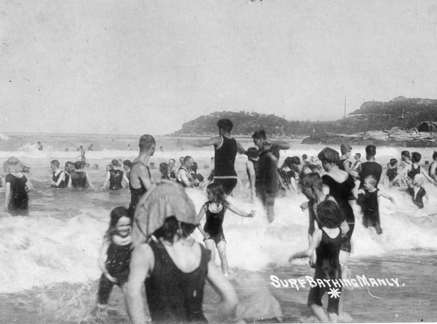 Mixed bathing on Manly Beach