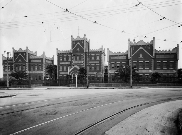 Salvation Army Training College Livingstone Road, still with tram tracks