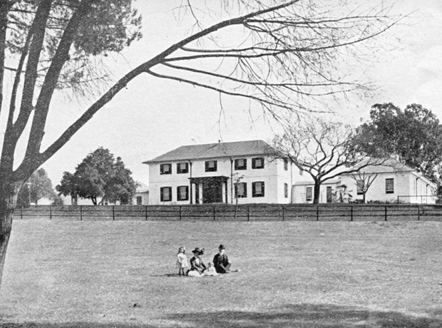 Family infront of Old Government House, 1911