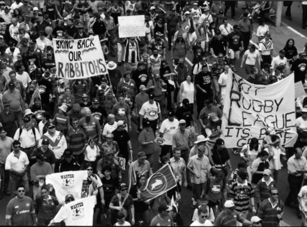 South Sydney Rugby League Protest 2000
